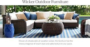 outdoor wicker furniture pottery barn outdoor furniture outdoor wicker furniture replacement cushion covers