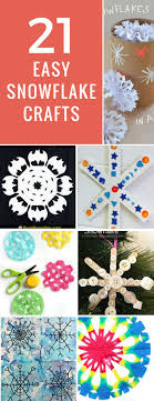 21 Super Easy Snowflake Crafts for Kids to Make this Christmas!