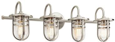 kichler 45134ni caparros contemporary brushed nickel 4 light vanity lighting loading zoom
