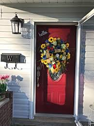 front door decor summerSummer Wreath Summer Sunflower Wreath Sunflower Wreath Summer