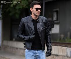 2019 fall black biochemical crisis leather motorcycle jacket embroidered skull harley boy leather jacket 100 real leather coat s 3xl new from naixing
