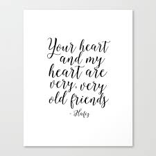 Hafiz Quote Valentines Day Decor Gift For Her Printable Quotes Best Friends Gift Love Sing Follow Canvas Print