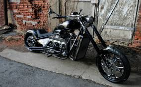 Black Harley-Davidson Chopper Wallpaper  SUWalls