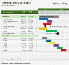 Timetable Template Mesmerizing Excel Timetable Template Construction Schedule For Compliant