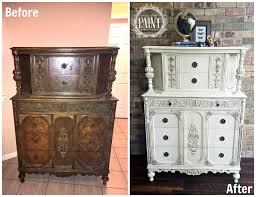 chalk paint furniture before and afterFor Love of the Paint February 2017
