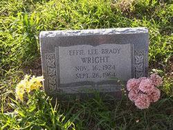 Effie Lee Wright Brady (1924-1964) - Find A Grave Memorial