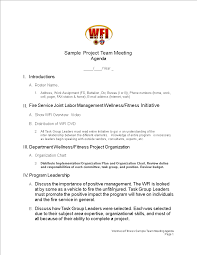 Free Sample Project Team Meeting Agenda Templates At