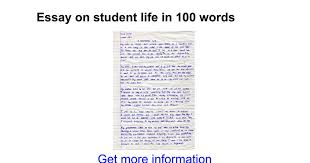 essay on student life in words google docs