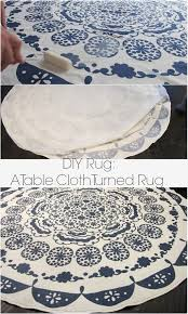 turning a table cloth in to a rug a diy anthropologie rug dream book design