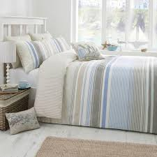 falmouth striped duvet set in blue