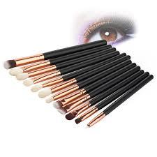 12pcs pro makeup brushes set foundation powder eyeshadow eyeliner lip brush tools eyeshadow set highlighter brushes high grade in eye shadow applicator from