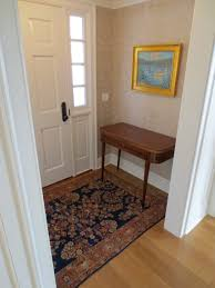 how big should an area rug be in a foyer designs