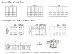 Bow Window Size Chart Classic Windows Inc