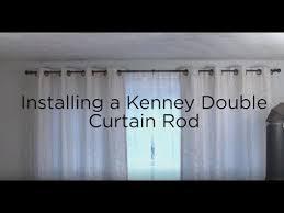 kenney double curtain rod installation