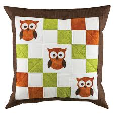 Owl Pillow Pattern Go Owl Pillow Pattern Accuquiltcom