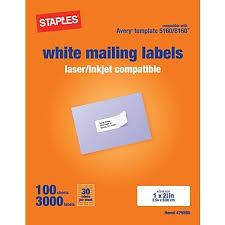 Staples Return Address Labels Template Elegant Avery Template 5160