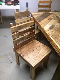 pallet design furniture. Furniture, Appealing Pallet Dining Table Set Design: Brilliant Ideas Design Furniture T