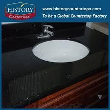 historystone galaxy black granite bathroom countertops custom vanity tops solid surface cutting from slabs history stone industrial co ltd
