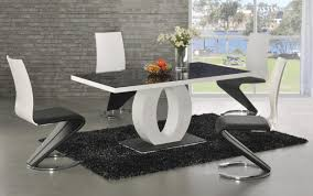 table marvelou four chairs gloss high extending white modern harveys round gumtree sets and hygena chair