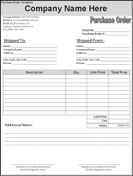 Purchase Order Templates Free New Blank Purchase Order Printable Paper Invoices