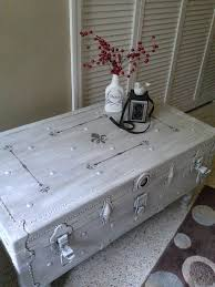 white shabby chic trunk coffee table with french stencils grey and white shabby chic coffee table