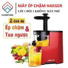 Máy ép trái cây hoa quả haeger công suất lớn 800w nên ép rất khỏe, có 2 tốc  độ ép, bình chứa lớn tới 1500ml, lọc hết 100% bã [ bh 1