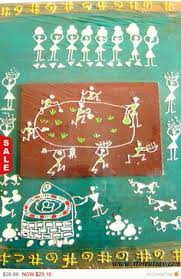 Small Picture My First Commissioned Warli Wall Art Art Pinterest Walls and