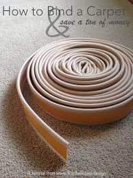 carpet binding. a full tutorial and instructions with pictures on how to diy bind carpet binding