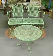 image of vintage metal lawn chairs and table