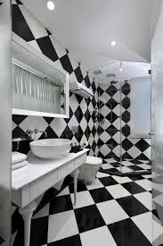 Black And White Bathroom Appealing Black And White Bathrooms Chess Black And White Bathroom
