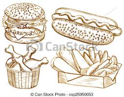 american food clipart. Interesting Clipart American Food Set  Csp25959053 With Food Clipart L