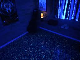 Black epoxy flooring Yellow Have Been Installing Epoxy Flooring All Of My Life And Have Become An Artist Of Sorts Im Having Blast Doing What Love To Do And Id Love To Help 13affiliateangelsinfo Epoxy Metallic Black Light Reflective Glow In The Dark Epoxy