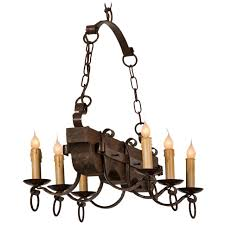 cool rustic wrought iron chandelier 0 furniture kitchen or dining room lighting ideas with vertical wooden and black candle holder plus hanging chains white