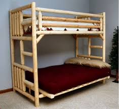 image of our wooden futon bunk bed