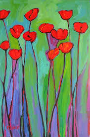 abstract poppies xi
