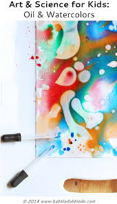 easy art projects for kids combine oil and watercolors in a science meets art experiment