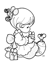 Small Picture Colorable Baby Girl Precious MomentsBabyPrintable Coloring Pages
