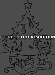 Small Picture Coloring Pages A Little Girl Is Decorating A Christmas Tree