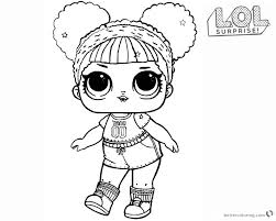 Lol Surprise Doll Coloring Pages Hoops Mvp Glitter Free Printable