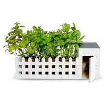 miniature picket fence planters