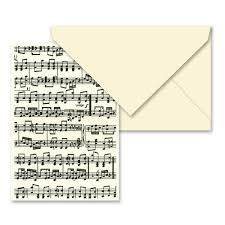 Tassotti Music Notes Notecard Envelope Peters Of