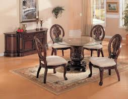 traditional round dining table with glass top la furniture tables india