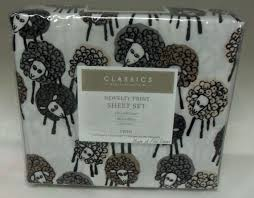 sheep sheets charter club classics novelty sheep white twin microfiber sheet set