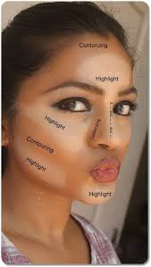 areas to highlight and contour your face for beginners