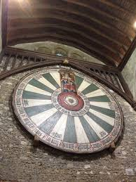 see that round table we were told by the elderly volunteers at this castle that it s the round table from the knights of the round table