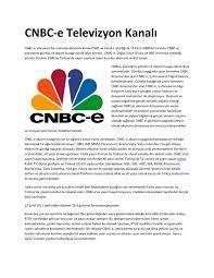 Calaméo - CNBC-E Televizyonu
