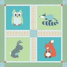 7 best Critter Patch Organic Baby Quilt Contest images on ... & Threadbias: Woodland Creatures by Rustyavenger This is so incredible! This  designer used the Quilt Adamdwight.com