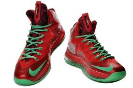 lebron red shoes. lebron james shoes | nike lebron 10 (x) christmas ruby red green b
