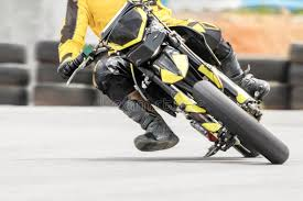 motard motorcycle in corner on track stock image image 42502223