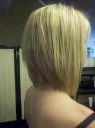 Graduated Bob Hairstyles Graduated Long Bob With Extra Light Blonde Highlights And